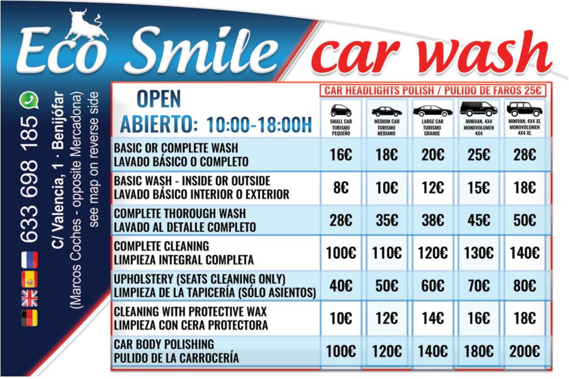 Eco Smile Car Wash (Marcos Coches) - Costa Car Trader