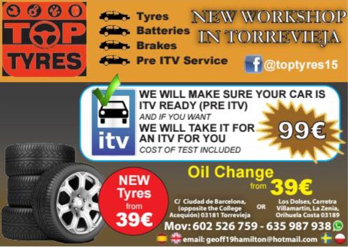 Top Tyres Costa Car Trader Advert