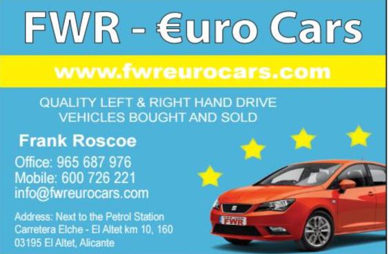 FWR Costa Car Trader Advert