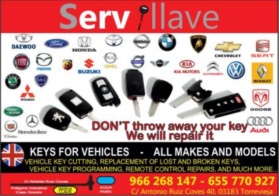 Servillave Costa Car Trader Advert