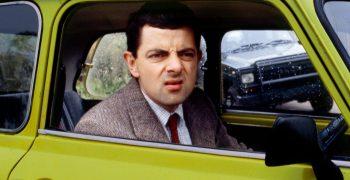 Rowan In his Famous Mr.Bean Car